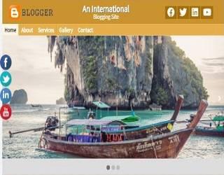 Blogger HTML Template