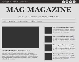 Mag Magazine Newspaper Template