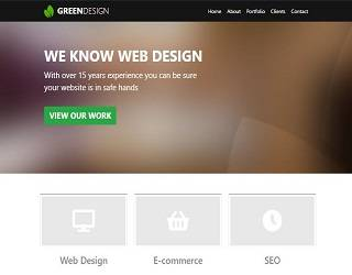 GreenDesign Bootstrap Template